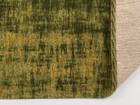 Zeer uniek vintage vloerkleed met schitterende groene garen