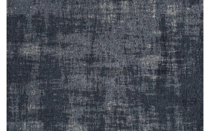 Prachtig vintage vloerkleed met unieke donkerblauwe garen