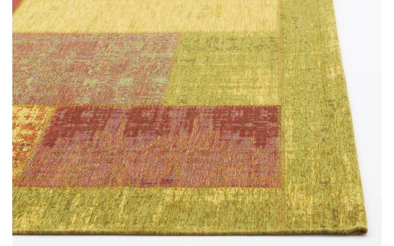 Enzo 98 - Prachtig vintage vloerkleed met Gele, Rode en Oranje garen
