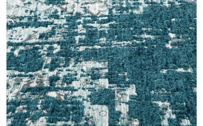 Odin 33 - Prachtig vintage vloerkleed in Turquoise kleurstelling