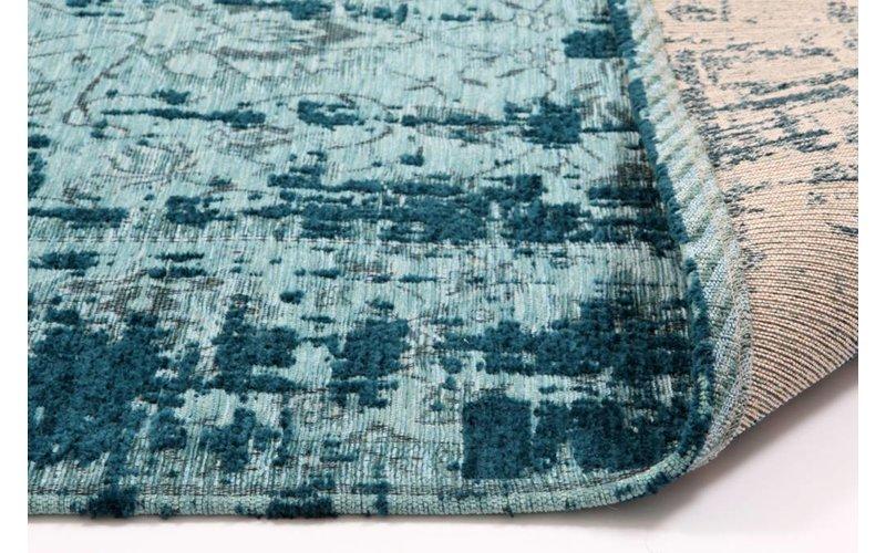 Prachtig vintage vloerkleed in turquoise kleurstelling