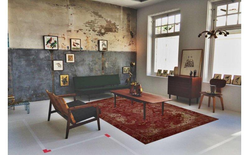 Angkor 45 - Vintage vloerkleed in prachtige Rood tinten