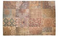 Barcelona 69 - Vintage vloerkleed in zacht Bruine tinten