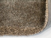 Ross 16 - Rond vloerkleed in beige/grijs