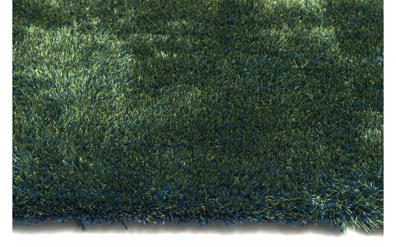 Rond vloerkleed Ross 53 Mix Blauw/Groen