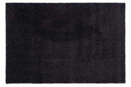 Hoogpolig vloerkleed zwart - Liv -