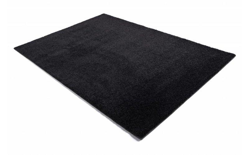 Liv 24 - Hoogpolig vloerkleed in prachtig Zwart