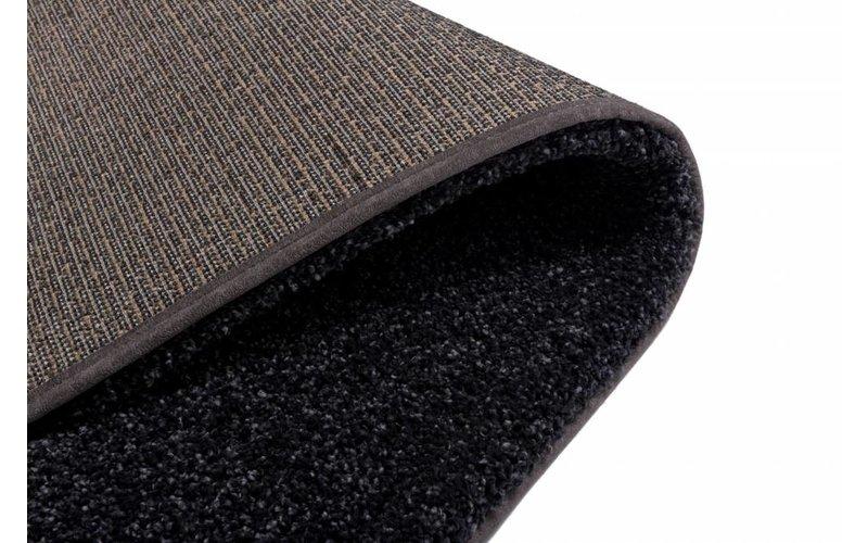 Hoogpolig vloerkleed in het zwart - Liv -