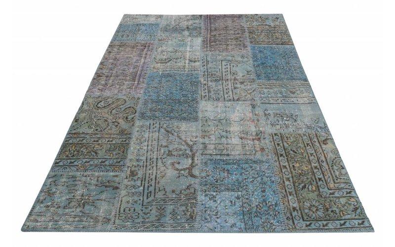 Vloerkleed Patchwork Blauw 170 x 240 cm