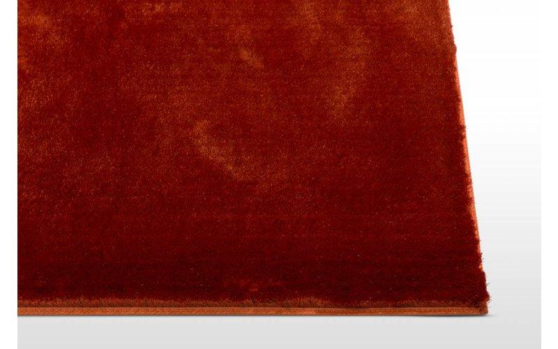 Hoogpolig vloerkleed Bowie-59 in oranje