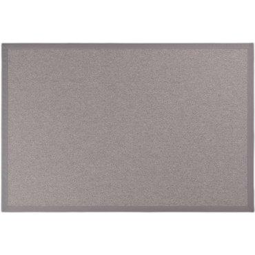 Floorpassion Vloerkleed Castle 24 wol grijs met katoenen bandering