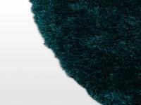 Ross 34 - Rond vloerkleed in petrol kleursamenstelling