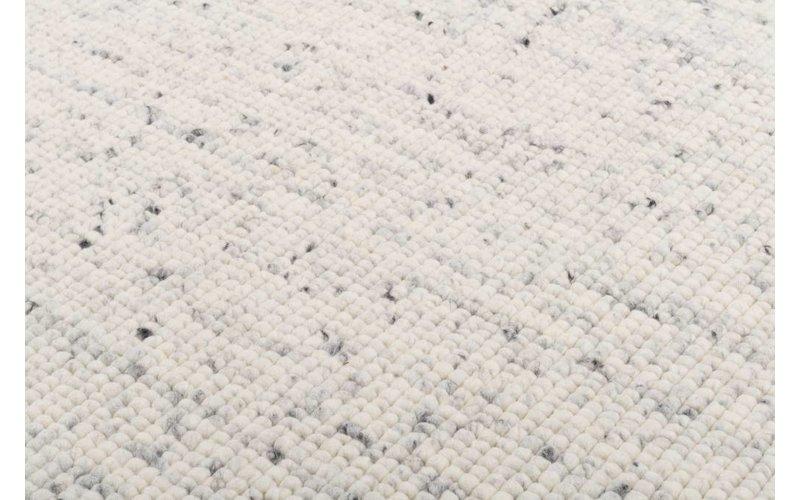vloerkleed van 100% wol in wit marmeren kleurstelling