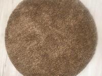 Rond Vloerkleed Dust 17  in het mix-bruin afmeting 100 cm rond