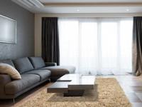 Hoogpolig wollen vloerkleed in licht-beige kleurstelling