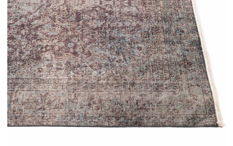 Reem 24 - Vintage vloerkleed met Oosters dessin in Parelmoer/Grijze kleurstelling