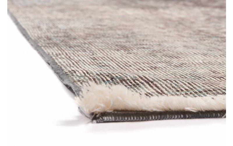 Vintage vloerkleed met Oosters dessin in parelmoer/grijze kleurstelling