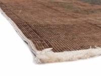 Vintage vloerkleed met Oosters dessin in beige kleurstelling