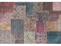 Kleurrijk vloerkleed met patchwork structuren in multi-kleuren