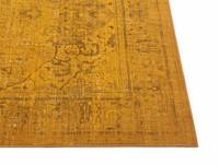 Angkor 54 - Prachtig vintage vloerkleed met oosters dessin in gele kleurstelling