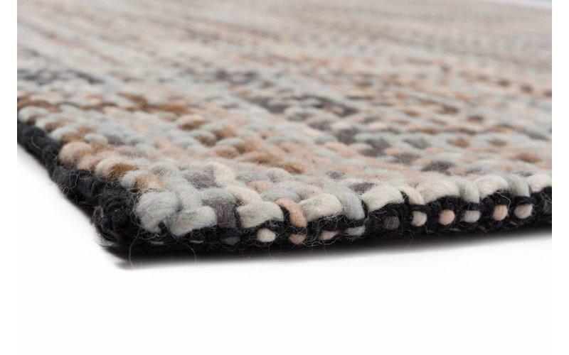 Handgeweven vloerkleed in multi kleuren Leela-17