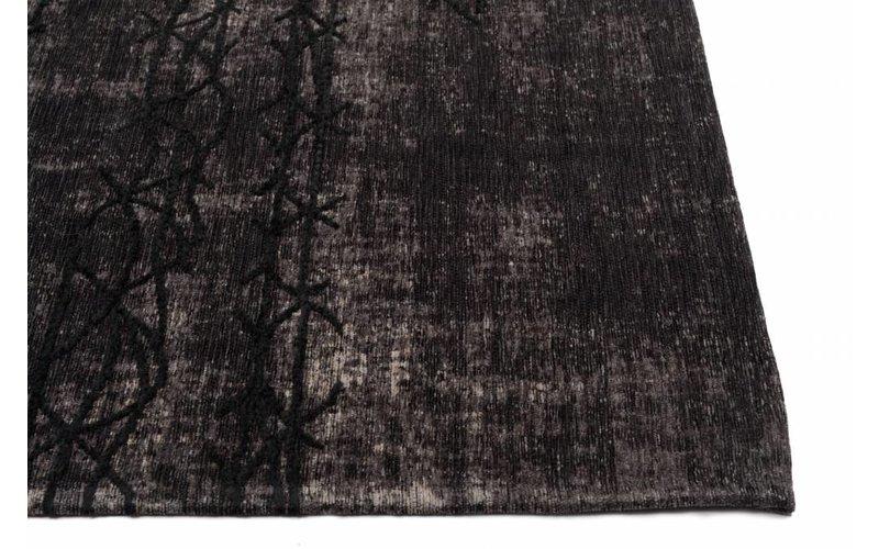 Fiber 23 - Geweven vloerkleed met modern design in zwarte kleurstelling