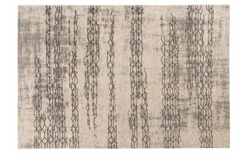 Geweven vloerkleed met modern design in lichtgrijze kleurstelling