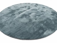 Sandro 32 - Rond hoogpolig vloerkleed in Faded Green