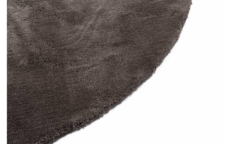 Sandro 23 - Rond hoogpolig vloerkleed in  Wolf Grey