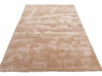 Hoogpolig vloerkleed in het beige Sandro 12 - Dessert Sand