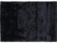 Sandro 24 - Modern hoogpolig vloerkleed in Intense Grey kleursamenstelling