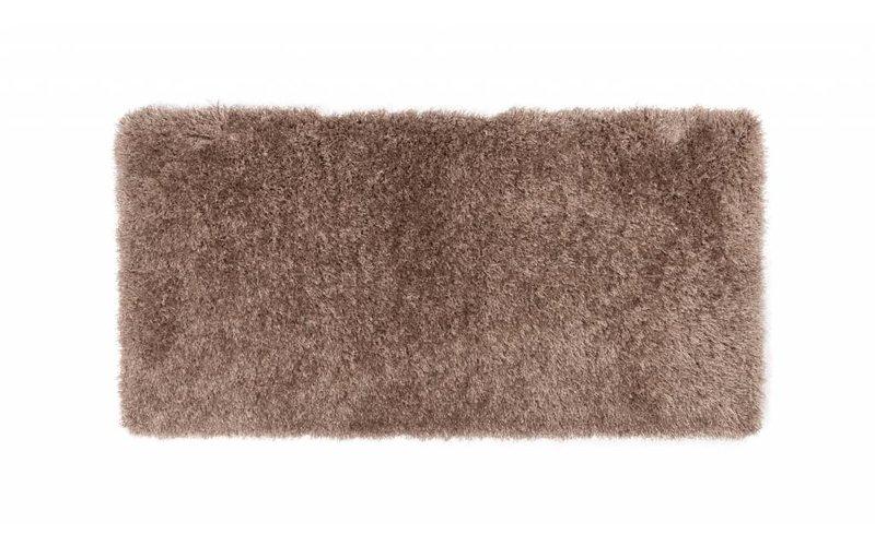 Chester 15 - Hoogpolige loper in beige/bruine kleursamenstelling