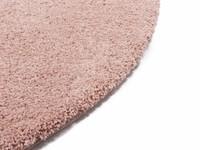 Rond Hoogpolig Vloerkleed Roze Liv 41