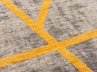 Hailey 62 - Prachtig geometrisch vloerkleed in steengrijze en okergele kleursamenstelling