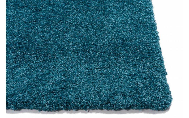 Hoogpolig vloerkleed in het blauw - Liv