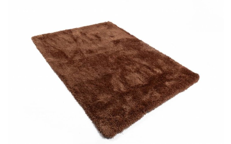Chester 16 - Hoogpolig vloerkleed in donkerbruin