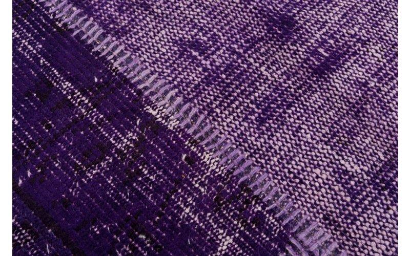Patchwork 49  - patchwork vloerkleed in het Paars