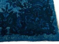 Authentiek Vintage 36 - Vintage vloerkleed in het blauw
