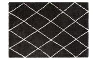Hoogpolig vloerkleed Lenza 25 in het zwart