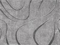 Hoogpolig vloerkleed in het grijs