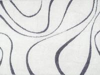 Hoogpolig vloerkleed in het wit met grijs