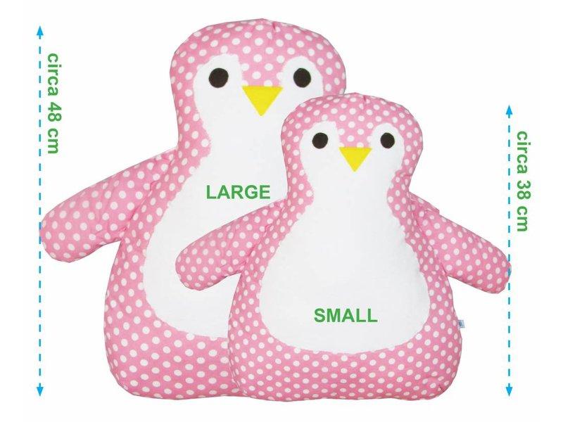 izzybizzybee® Knuffelkussen Pinguin Dotty - roze