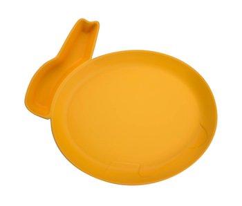 JJ Rabbit dipPLATE® Eetbordje Rabbit - orange