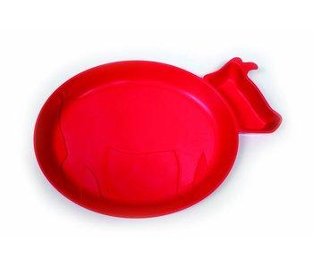 JJ Rabbit dipPLATE® Kinderteller Piglet - Rot
