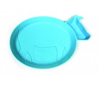 JJ Rabbit dipPLATE® Kinderteller Piglet - Blau