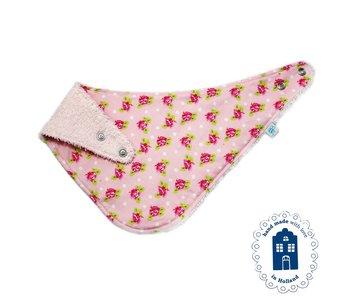 izzybizzybee® Kwijlslab Dotty Rose - pink
