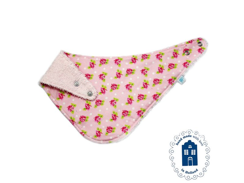 izzybizzybee® Kwijlslab Dotty Rose Pink