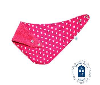 izzybizzybee® Kwijlslab Sparkling Stars - hot pink