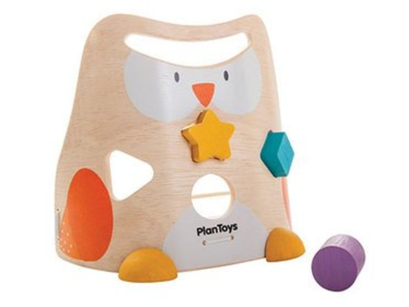 Plan Toys Holzwürfel Steckspiel Eule