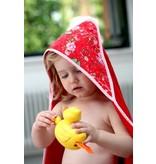 izzybizzybee® Kapuzenbadetuch Birds 'n Roses - MAXI